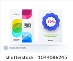 set of design brochure ... | Shutterstock .eps vector #1044086245