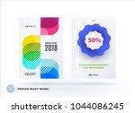 set of design brochure ... | Shutterstock .eps vector #1044086245