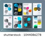 set of design brochure ... | Shutterstock .eps vector #1044086278