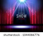 theater stage with red curtain... | Shutterstock .eps vector #1044086776