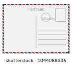 postal card  isolated on white... | Shutterstock .eps vector #1044088336