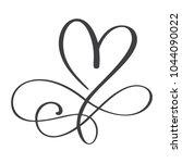 heart love sign forever.... | Shutterstock .eps vector #1044090022