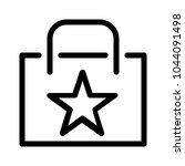 favorite or starred bag | Shutterstock .eps vector #1044091498