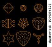 geometric objects set | Shutterstock .eps vector #1044096826