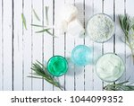 cosmetic cream product samples...   Shutterstock . vector #1044099352