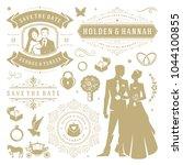 wedding vector design elements... | Shutterstock .eps vector #1044100855