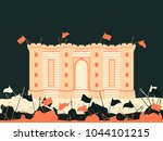 bastille fortress. the battle... | Shutterstock .eps vector #1044101215