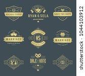 wedding logos and badges vector ...   Shutterstock .eps vector #1044103912