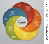 abstract round infographics... | Shutterstock .eps vector #1044108145