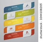 5 steps infographics element... | Shutterstock .eps vector #1044108205