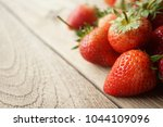 fresh strawberry and blank... | Shutterstock . vector #1044109096