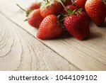 fresh strawberry and blank... | Shutterstock . vector #1044109102