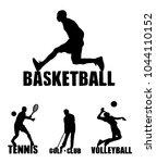 sport background. basketball ... | Shutterstock .eps vector #1044110152