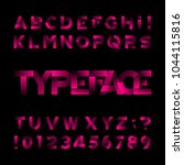 abstract alphabet font. type... | Shutterstock .eps vector #1044115816
