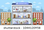 vetclinic city building with... | Shutterstock .eps vector #1044120958