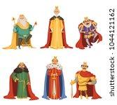 cartoon characters of big king... | Shutterstock .eps vector #1044121162