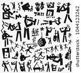 jazz band icon set   Shutterstock .eps vector #1044123262