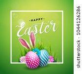 vector illustration of happy... | Shutterstock .eps vector #1044126286