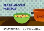 brazilian popcorn  porridge  | Shutterstock .eps vector #1044126862