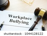 documents about workplace... | Shutterstock . vector #1044128122
