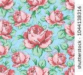 rose flower hand drawing... | Shutterstock .eps vector #1044138316