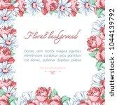 square flower frame of... | Shutterstock .eps vector #1044139792