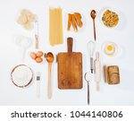top view bakery products and... | Shutterstock . vector #1044140806