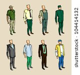 info graphic man sketch elements | Shutterstock .eps vector #104414132