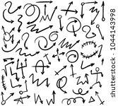 arrow doodles vector. a set of... | Shutterstock .eps vector #1044143998