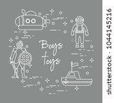 children's toys for the boy ... | Shutterstock .eps vector #1044145216