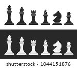 black and white chess. 12... | Shutterstock .eps vector #1044151876