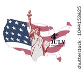 july 4 an independence day  the ... | Shutterstock .eps vector #1044153625