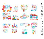 collection of watercolor... | Shutterstock . vector #1044157432
