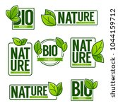 nature and bio product  doodle... | Shutterstock .eps vector #1044159712
