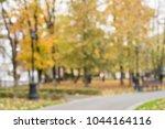 autumn leaves on the pedestrian ...   Shutterstock . vector #1044164116