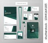 corporate identity template... | Shutterstock .eps vector #1044164185