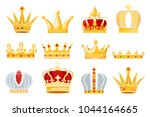crown vector golden royal... | Shutterstock .eps vector #1044164665