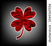 lucky clover sign. vector. icon ...   Shutterstock .eps vector #1044165556