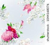 summer vintage floral vector... | Shutterstock .eps vector #1044168076