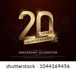 20th years anniversary... | Shutterstock .eps vector #1044169456