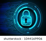 safety concept  closed padlock... | Shutterstock .eps vector #1044169906