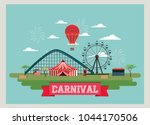 circus carnival design   Shutterstock .eps vector #1044170506