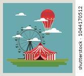 circus carnival design   Shutterstock .eps vector #1044170512
