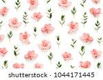 pattern with soft pink azalea... | Shutterstock . vector #1044171445