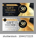 voucher template with black and ... | Shutterstock .eps vector #1044172225