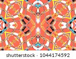 colorful symmetrical horizontal ... | Shutterstock . vector #1044174592