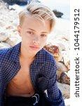beauty portrait of adolescent... | Shutterstock . vector #1044179512
