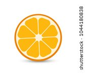orange fruit in flat designe.... | Shutterstock .eps vector #1044180838