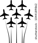 airplane flying formation  air...   Shutterstock .eps vector #1044189862