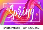 spring collection banner design ... | Shutterstock .eps vector #1044202552